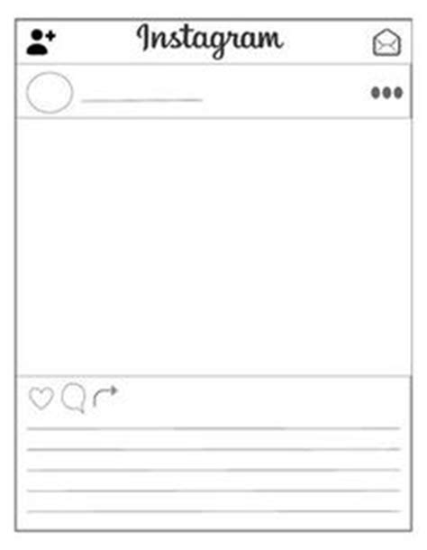 instagram layout template blank this is a packet of instagram templates for classroom use