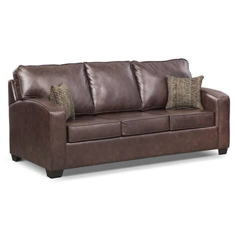 leather sleeper sofa queen brookline leather queen memory foam sleeper sofa