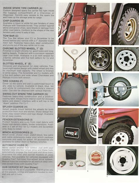 Jeep Accessories Catalog Image 1982 Jeep Accessories 1982 Jeep Accessories Catalog 09