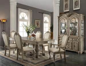 White Formal Dining Room Sets 9 Piece Acme Chateau De Ville Antique White Finish Dining Set