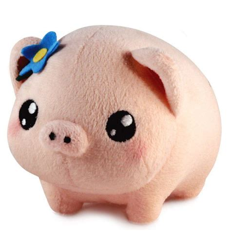 stuffed pig pudgimals gertrude the pig plush from lucky squid