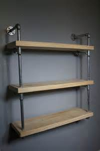 industrial wall shelves wall mounted industrial pipe media shelving industrial