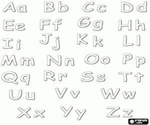 College Met Kleine Letter Of Hoofdletter Kleurplaten Letter Of Karakter Alfabet Kleurplaat 2