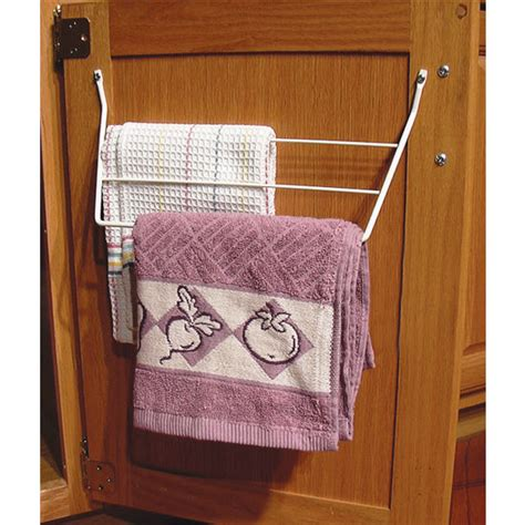 kitchen cabinet towel holder kitchen cabinet door mount towel holders chrome or white