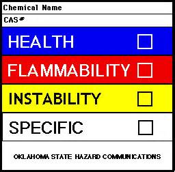 secondary container label template hmis label