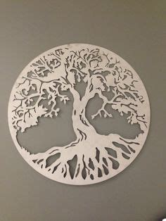 aluminum circular christmas tree dxf yin yang tree cnc dxf for plasma laser waterjet clip vector metal wall cnc