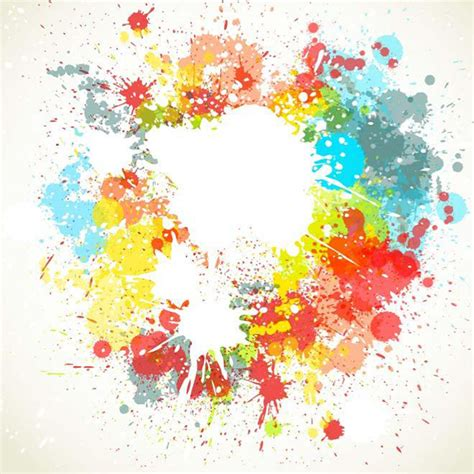 paint splatter colorful background
