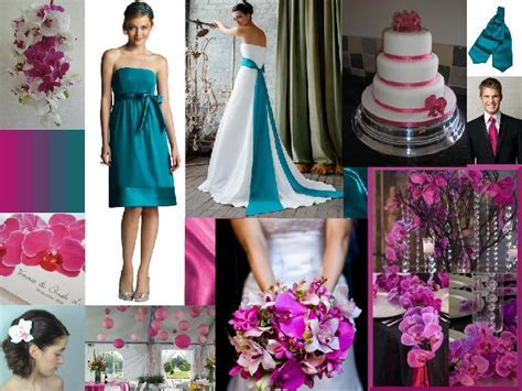 fuchsia and teal wedding colours   Wedding Ideas
