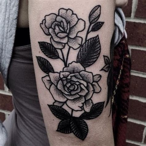 thick line tattoo flower refrence lines thick shading