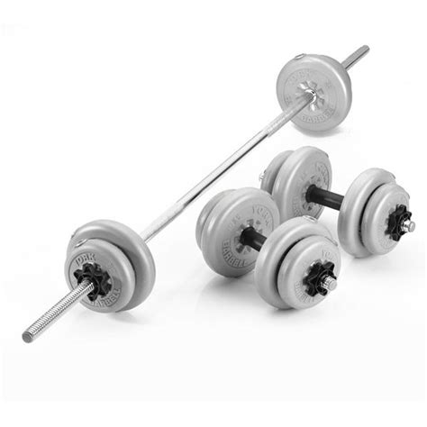 New Dumbell Plastik 4 Kg Terlaris york 25kg vinyl barbell and dumbbell set sweatband