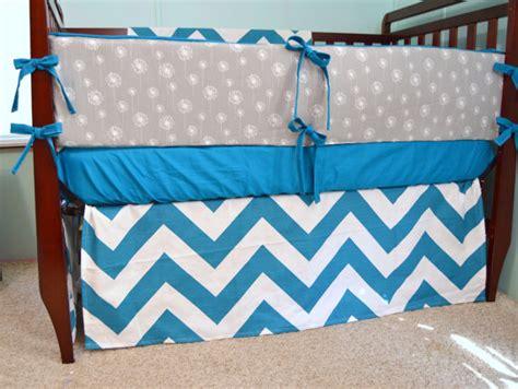 Turquoise Chevron Crib Bedding by Items Similar To Baby Bedding Crib Bedding Turquoise Chevron And Gray Dandelion On Etsy