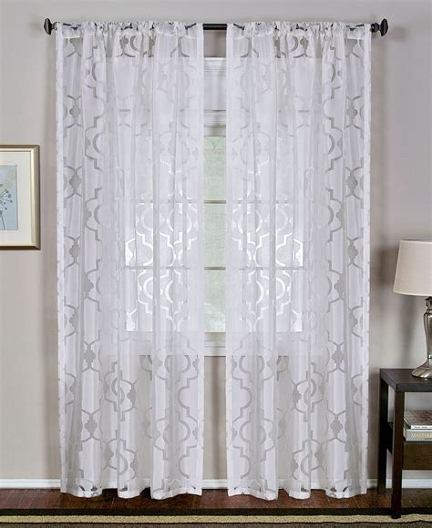 Moroccan Sheer Curtains Elrene Montego Burnout Sheer 52 Quot X 84 Quot Panel