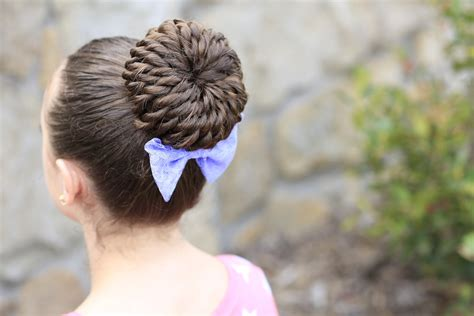 short hair gymnastics style rope twist pinwheel bun prom hairstyles cute girls