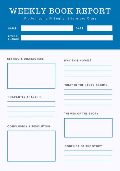 blue book report report templates canva