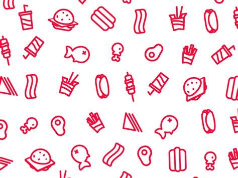 tumblr icon pattern food pattern gif by lucas marinm dribbble