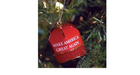 trump is selling crappy made expensive christmas ornaments