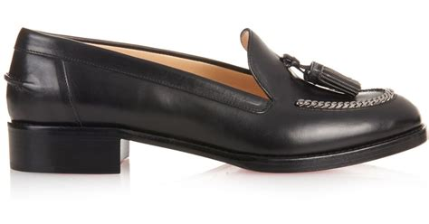 cheap tassel loafers christian louboutin leather tassel loafers spiked loafers