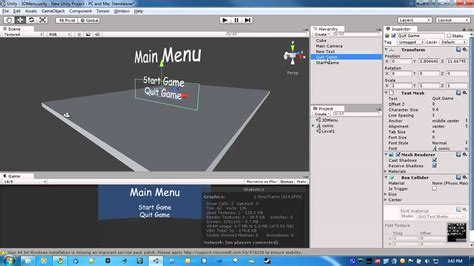tutorial in unity building a game in unity part 1 the main menu tutorial 1