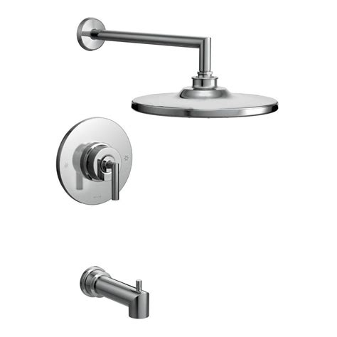 Shower Faucet Temperature by Moen Arris Posi Temp Single Handle 1 Spray Tub And Shower Faucet Trim Kit In Chrome Valve Not