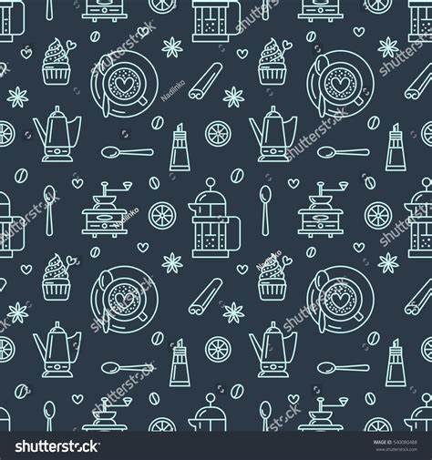 coffee shop background pattern royalty free vector image seamless pattern coffee vector background repeated stock