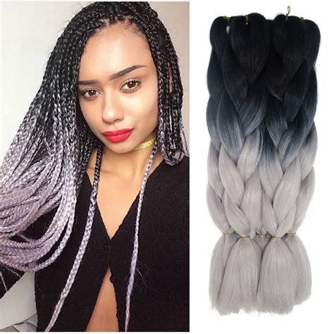 gray kanekalon braiding hair compare prices on grey hair colors online shopping buy
