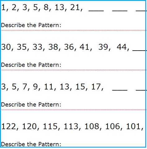 writing pattern rules grade 2 number patterns worksheets 2nd grade worksheets for all