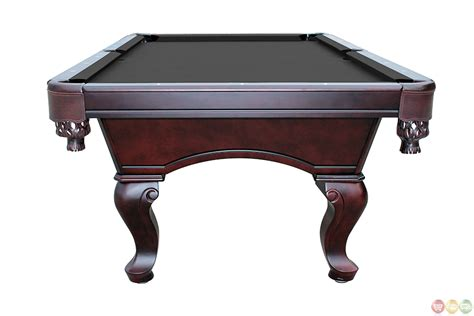 black 8 foot 3 slate pool table