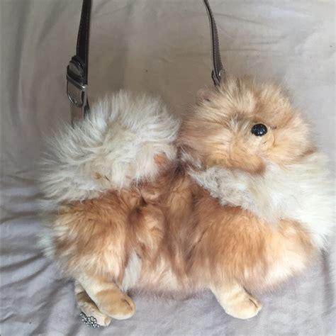 pomeranian purse fuzzy nation fuzzy nation pomeranian purse from miss s closet on poshmark