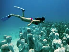 Hundreds of life size human sculptures were recently installed as part