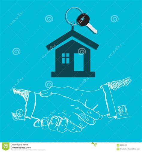 key concepts home design house key handshake design flat stock vector image