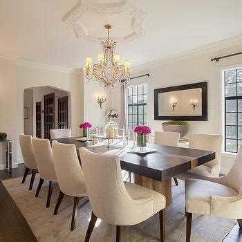 glamorous dining rooms dark brown dining table with see through dining chairs