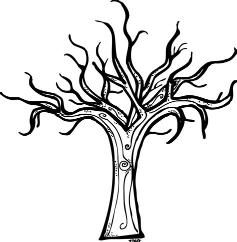dead tree coloring page dead tree clipart black and white pencil and in color