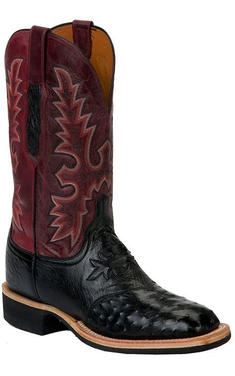 lucchese square toe boots mens lucchese cowboy collection s brown quill ostrich