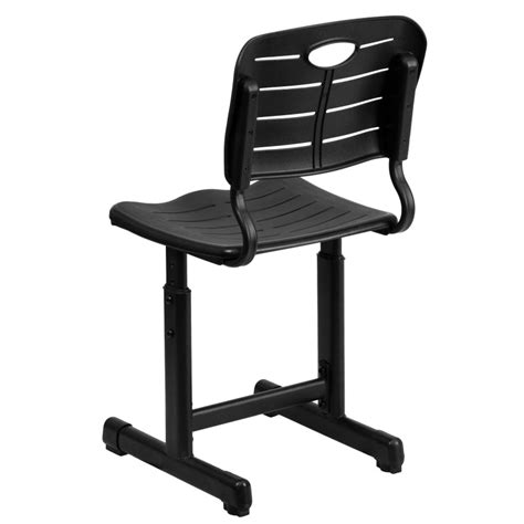 adjustable height desk and chair with black pedestal frame adjustable height black chair with black pedestal