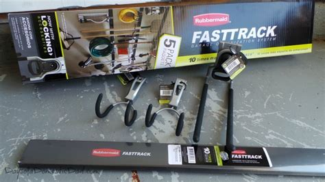 garage organization is a snap with rubbermaid fasttrack