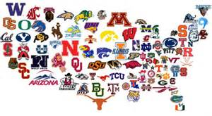 national college colors day college map