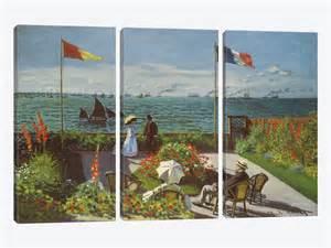 garden at sainte adresse 1867 canvas artwork by claude