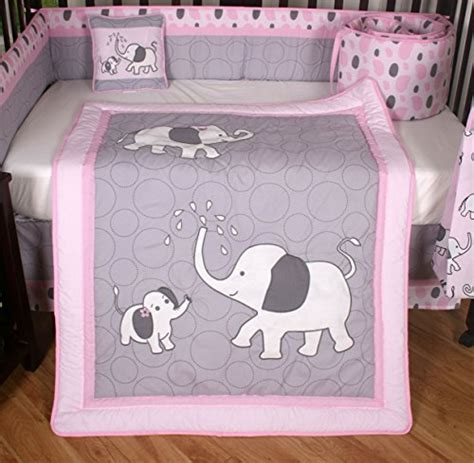 pink and gray elephant crib bedding boutique pink gray elephant 13pcs crib bedding sets in the