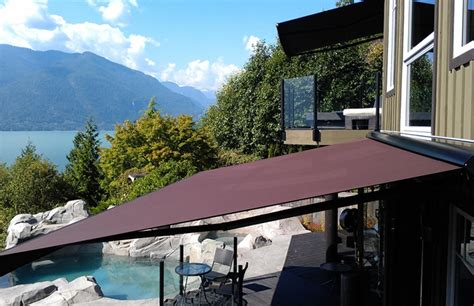 vancouver awnings adalia awning against the vancouver mountains rolltec