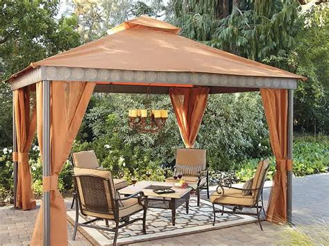 Gazebo Cool And Amazing Fabric Gazebo Design Ideas Outdoor Furniture Gazebo