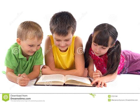 Royalty Free School Children Stock by Children Reading Book Royalty Free Stock Photos Image