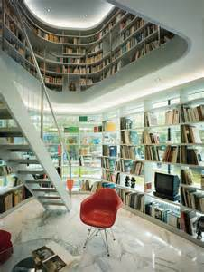 Modern Home Library Interior Design by Minimalist House With Open Library Idesignarch