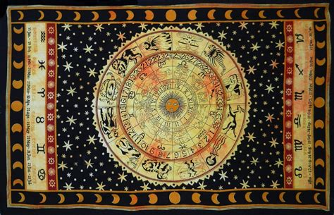 Fashion Tapestry Hippie Wall Hanging Tapestries Fashion 27 black zodiac horoscope tapestry indian