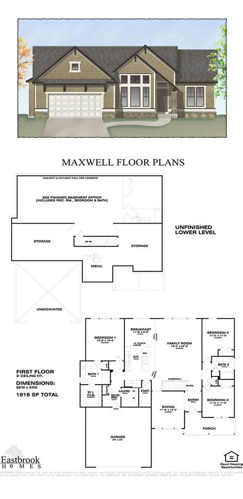 eastbrook homes floor plans maxwell floor plan by eastbrook homes square footage 1918