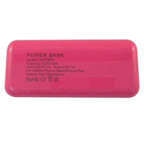 Tablet Advan Warna Pink taff power bank 5200mah model mp5 no box for tablet and smartphone mp5 pink with white