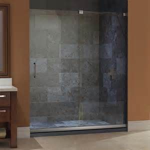 lowes sliding shower doors shop dreamline mirage 56 in to 60 in frameless sliding