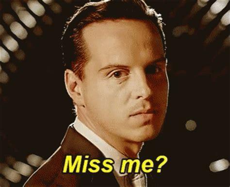 Did La Miss Me by Moriarty Missme Gif Moriarty Missme Sherlock Discover
