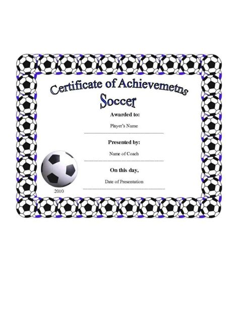soccer certificate templates for word football certificate templates template update234 template update234