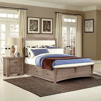 costco bedroom suites chambers dual storage king bed