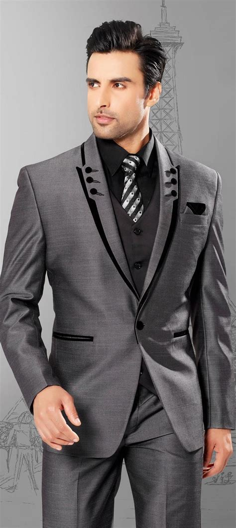 Wedding Mens Suits by Black Tuxedo Suits Slim Fit Peaked Lapel Tuxedos